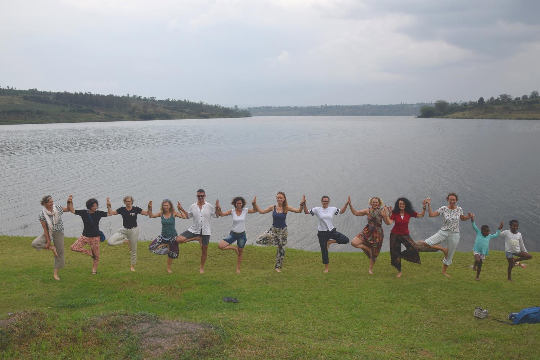 Yoga am Lake Muhazi
